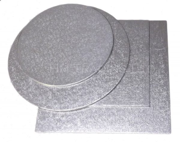 Single 6 Inch Thin 1.75mm Cut Edged Cake Boards