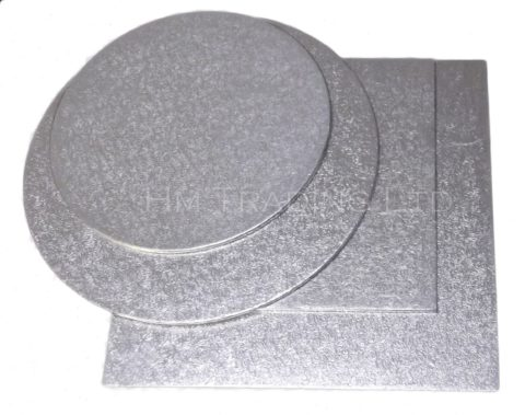 Single 8 Inch Thin 1.75mm Cut Edged Cake Boards