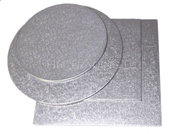 Single 9 Inch Thin 1.75mm Cut Edged Cake Boards