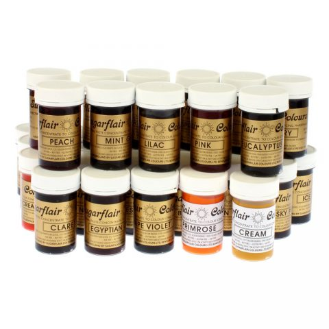 Sugarflair Full Set (39 Colours) Food Colouring Gel Pastes