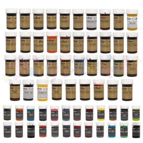 Sugarflair Gel Based Food Colour SET A – G
