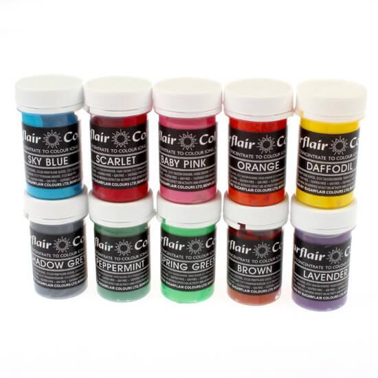 Sugarflair NEW PASTEL Gel Based Colours